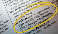 Korrekturen Lektorat Deutsch